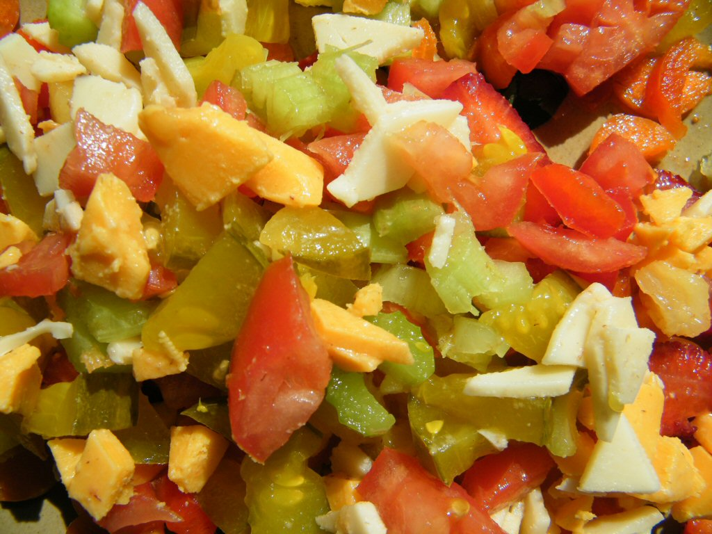 Diced Fruits and Vegetables From Corner to Corner and Edge to Edge